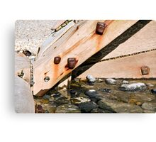 Detail of Sea defences Canvas Print