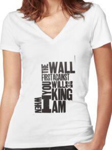 whenIamKing Women's Fitted V-Neck T-Shirt