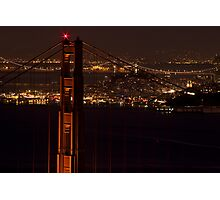 Golden Gate NIght Photographic Print