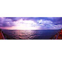 Storm Inbound - Pattaya Sunset Panorama Photographic Print