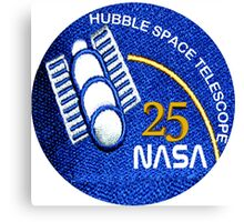 NASA Hubble 25th Anniversary Patch Canvas Print