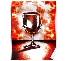 Wine glass by R.A.M. Abstract Poster