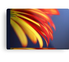 Yellow with Red - Pastel Metal Print