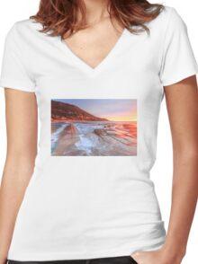 Sea landscape Women's Fitted V-Neck T-Shirt