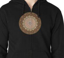 Vintage Textile YoYo Quilt Mandala Zipped Hoodie