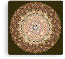 Vintage Textile YoYo Quilt Mandala Canvas Print