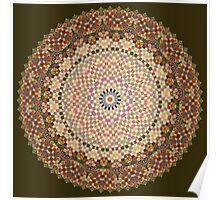 Vintage Textile YoYo Quilt Mandala Poster
