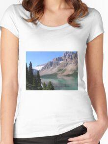 Bow Lake, Alberta Banff/ Jasper Parkway Women's Fitted Scoop T-Shirt