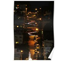 Lombard Street at Night Poster