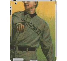 Benjamin K Edwards Collection Arch Persons Montgomery Team baseball card portrait iPad Case/Skin