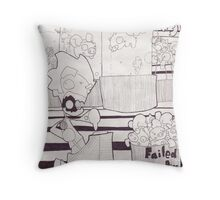 Flying Pig Factory Throw Pillow