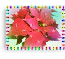 Poinsettia for Christmas Canvas Print
