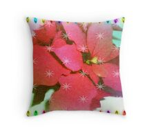 Poinsettia for Christmas Throw Pillow