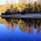 Cobalt Sky, Autumn Reflections Buffalo National River by NatureGreeting Cards ©ccwri