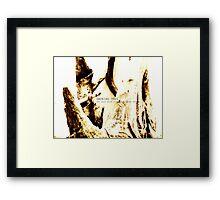 smoking tree Framed Print