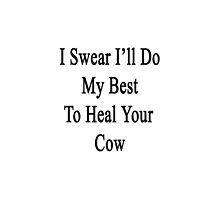I Swear I'll Do My Best To Heal Your Cow by supernova23