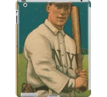 Benjamin K Edwards Collection Bill O'Hara New York Giants baseball card portrait iPad Case/Skin