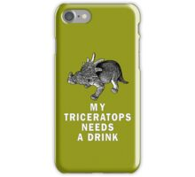 My Triceratops needs a drink iPhone Case/Skin