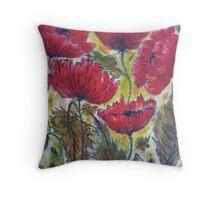 Poppies - 3 Throw Pillow