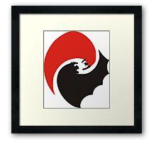 Bat v Super Framed Print