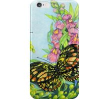 Butterflies and Snapdragons iPhone Case/Skin