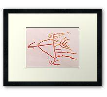flame arrow Framed Print