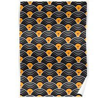 Vinyl Record Japanese Pattern Poster