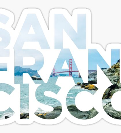 San Francisco Picture Word Sticker