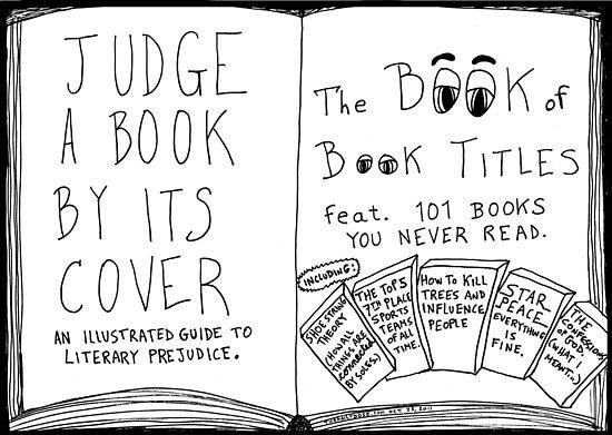 Funny Book Titles book cover cartoon by bubbleicious