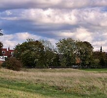 Newport Pagnell from Bury Field by James  Key