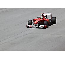 Ferarri and Fernando Alonso Photographic Print
