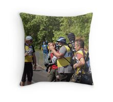Photographing Photographers. The Conference. Throw Pillow