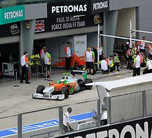 Paul DiResta of Force India F1 at Pits by 3rdeyelens