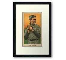 Benjamin K Edwards Collection Addie Joss Cleveland Naps baseball card portrait 002 Framed Print