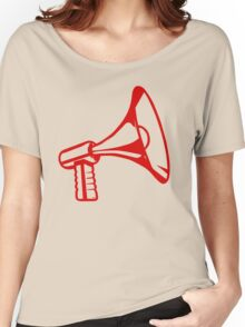 Megaphone, Red Women's Relaxed Fit T-Shirt