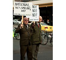 No Smiling Day Photographic Print