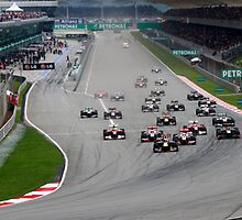 Opening Lap at the 2011 Malaysian Grand Prix by 3rdeyelens