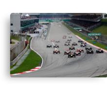 Opening Lap at the 2011 Malaysian Grand Prix Canvas Print