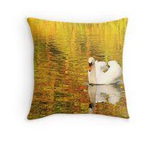 Swan, Painshill Lake Throw Pillow