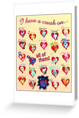 I have a crush on... all of them! 2.1 - Poster by Stinkehund