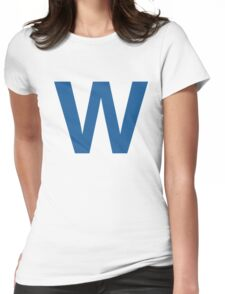 Fly The W - Cubs Playoffs Womens Fitted T-Shirt