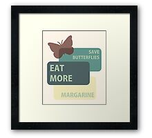 Save butterflies Framed Print