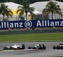 Sauber F1, Williams F1 and Team Lotus F1 in action by 3rdeyelens