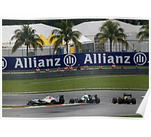 Sauber F1, Williams F1 and Team Lotus F1 in action Poster