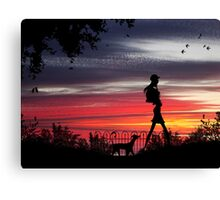 Walking the dog (Series) Canvas Print
