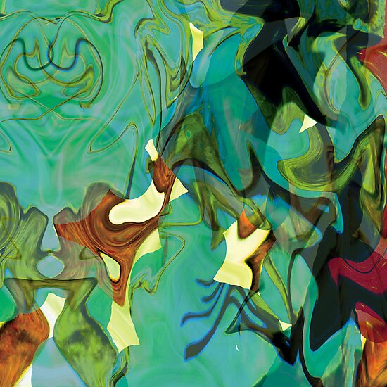 """Panel Two in Triptych """"Beyond The Barriers"""" by Cate Townsend"""
