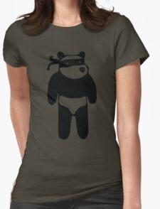 Ninja Panda Womens Fitted T-Shirt