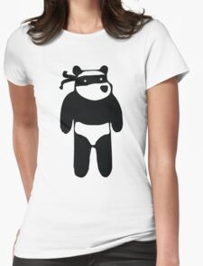 Ninja Panda Womens Fitted T-Shirt