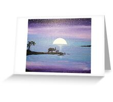 Dawn of Peace: Elephants: Father and Son Greeting Card