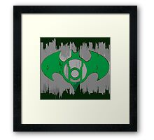 Batman Green Lantern Framed Print
